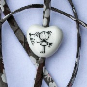 bracelet personnalisé coeur blanc claudia ladriere