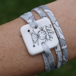 bracelet personnalisé porcelaine blanc claudia ladriere