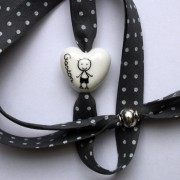 bracelet personnalise blanc coeur claudia ladriere
