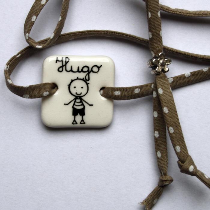 bracelet prénom blanc
