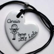 collier personnalise coeur porcelaine claudia ladriere
