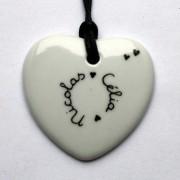 bijou personnalise coeur blanc claudia ladriere