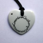 collier coeur blanc personnalisé claudia ladriere