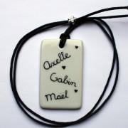collier porcelaine personnalisé claudia ladriere