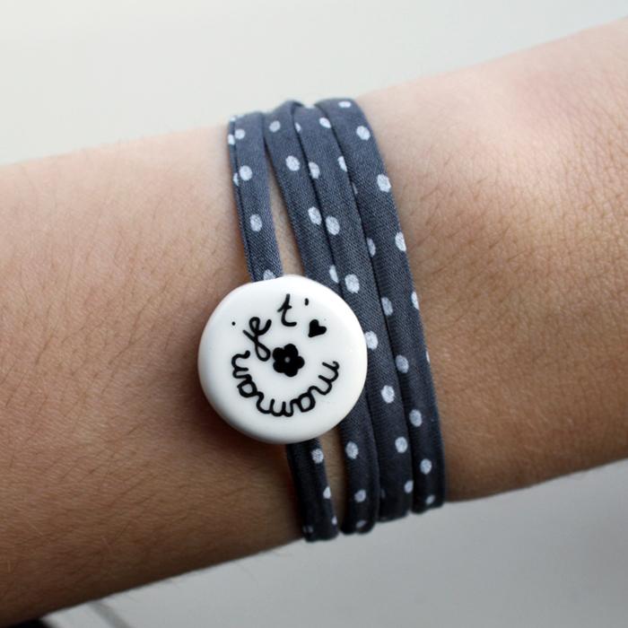 bracelet pour maman petit rond claudia ladri re cr ations. Black Bedroom Furniture Sets. Home Design Ideas
