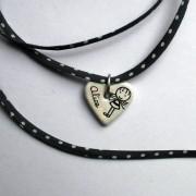 coeur blanc personnalise collier claudia ladriere