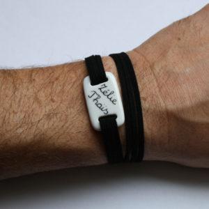 bracelet homme porcelaine claudia ladriere