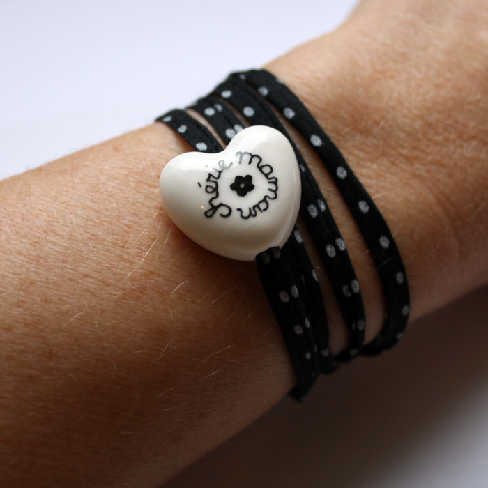 bracelet pour maman c ur bomb claudia ladri re cr ations. Black Bedroom Furniture Sets. Home Design Ideas