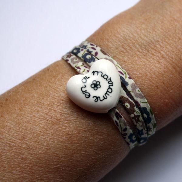 cadeau marraine bracelet blanc claudia ladriere