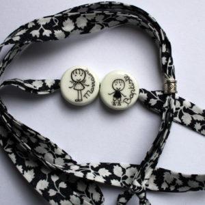 cadeau marraine bracelet claudia ladriere blanc