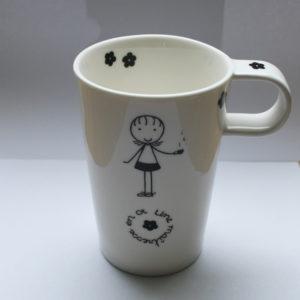 cadeau maitresse tasse porcelaine blanche claudia ladriere