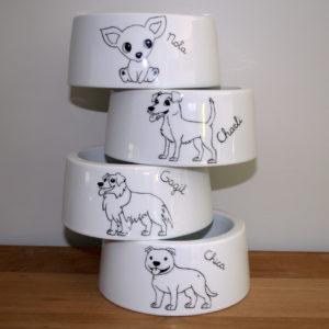 gamelle pour chien personnalisée claudia ladriere