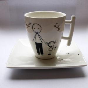 tasse personnalisable cadeau papa porcelaine blanche