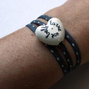 bracelet la vie est belle claudia ladriere coeur