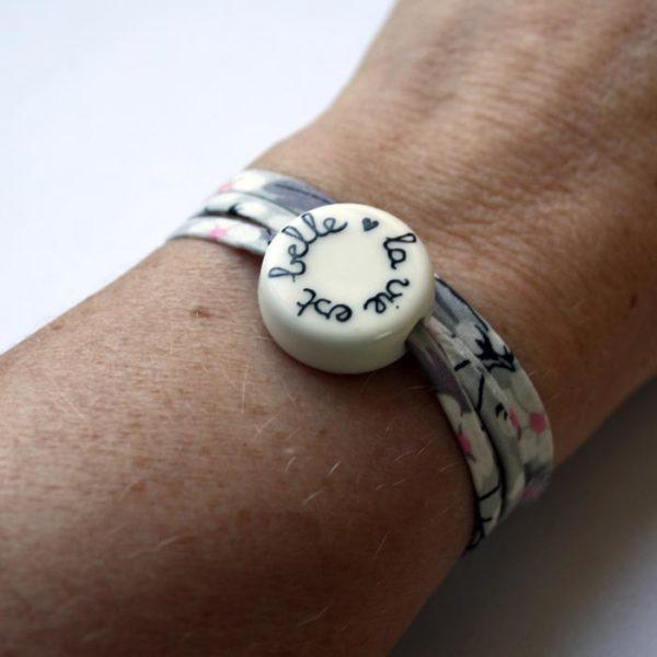 bracelet la vie est belle claudia ladriere rond