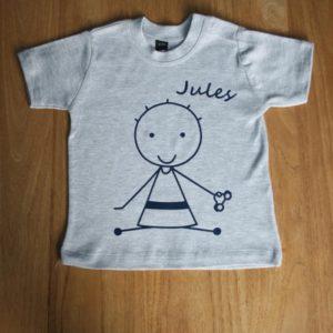 t-shirt bébé personnalisé garçon claudia ladriere