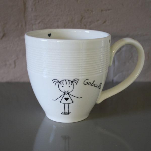 mug tasse personnalis blanc cass claudia ladri re cr ations. Black Bedroom Furniture Sets. Home Design Ideas