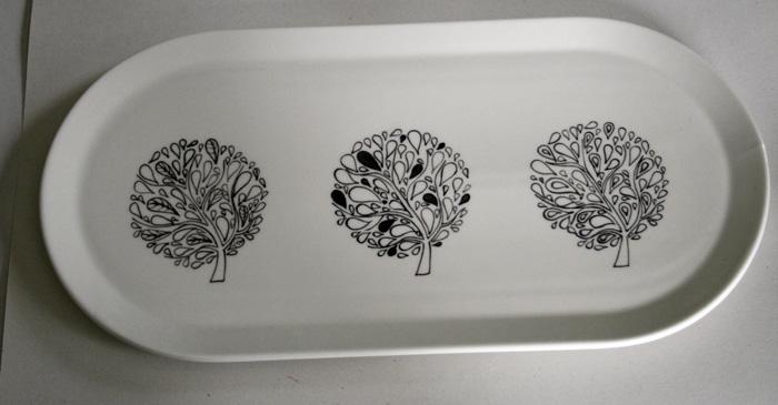 plat cake motif arbres claudia ladri re cr ations. Black Bedroom Furniture Sets. Home Design Ideas