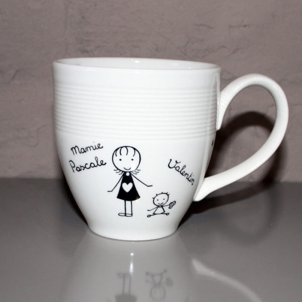 mug tasse personnalis blanc cass pour mamie claudia ladri re cr ations. Black Bedroom Furniture Sets. Home Design Ideas
