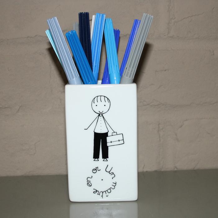 Pot crayons pour la ma tresse ou le ma tre id e - Cadeau nounou fin d annee ...