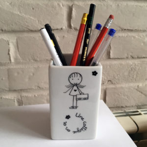 cadeau collegue pot a crayons claudia ladriere