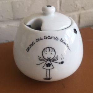 sucrier porcelaine fait main