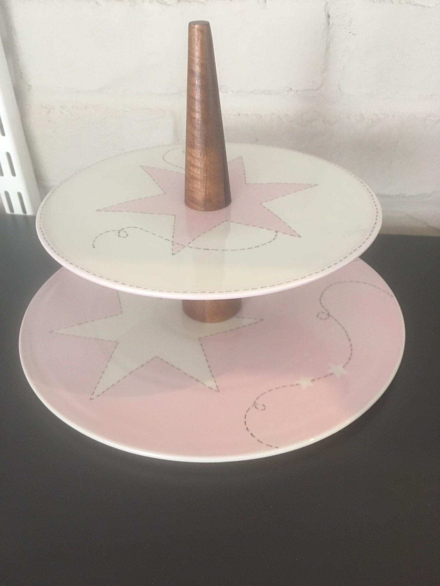 plat tages porcelaine et bois rose toiles claudia ladri re cr ations. Black Bedroom Furniture Sets. Home Design Ideas