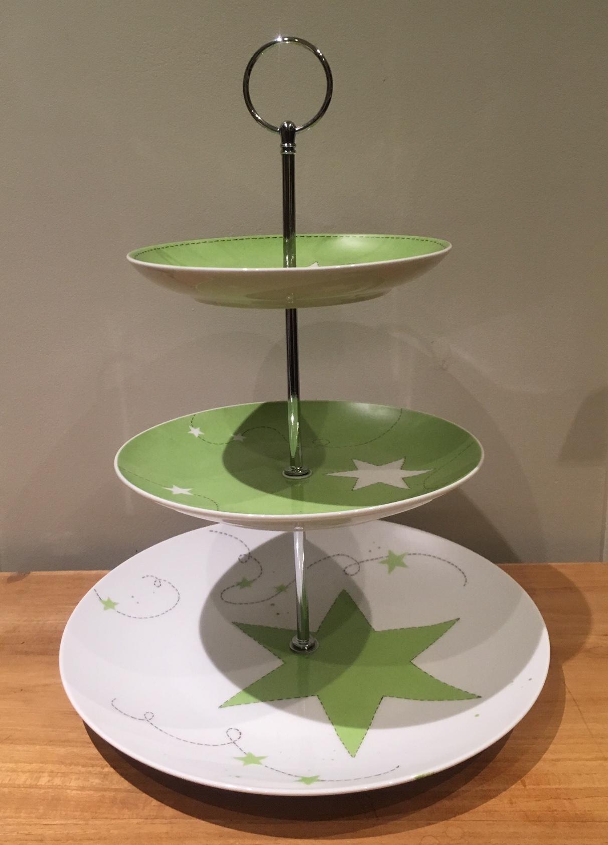 plat tages porcelaine et bois vert toiles claudia ladri re cr ations. Black Bedroom Furniture Sets. Home Design Ideas