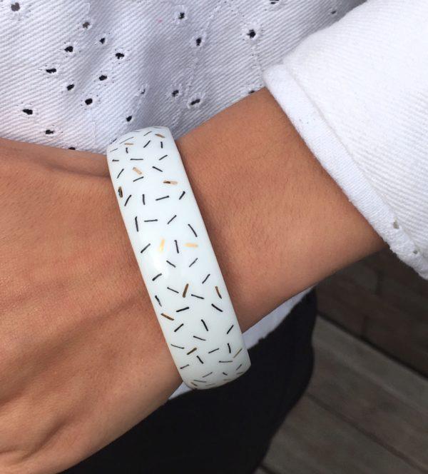 bracelet blanc or